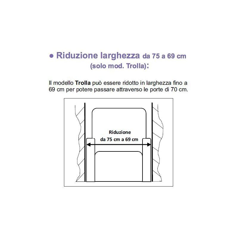 Porte Da 70 Cm.Trolla Riduzione In Larghezza Per Passare Le Porte Da 75 A 69 Cm